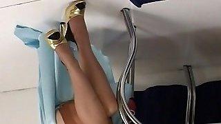 Justine Joli strips bare in classical fashion