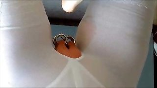 Shilas foot licking and urinating session in girdles part I