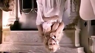 Full of eagerness busty vintage blondie gets cruelly fucked doggy style
