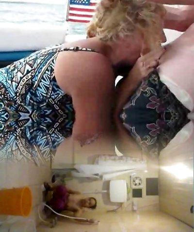 Amateur Mother DeepThroat On A Boat