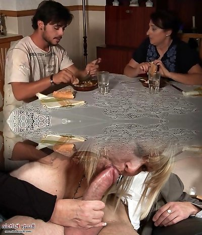 Mature mother spy for stepson and his girlfriend