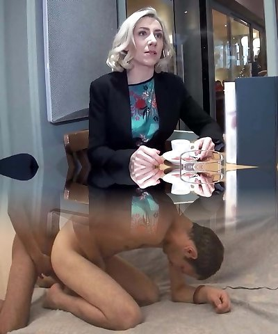 Julie a French tutor gets boned outside of high school