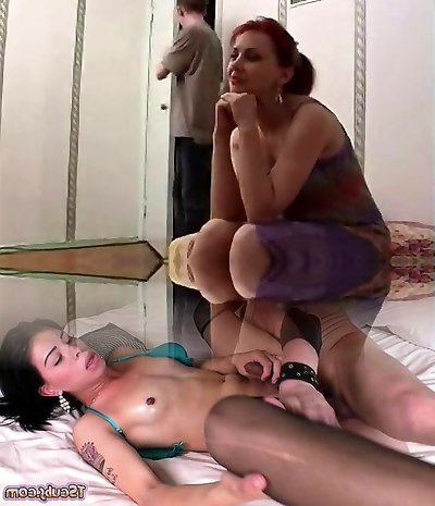 Russian mature mom and a friend of her son-in-law! First-timer!