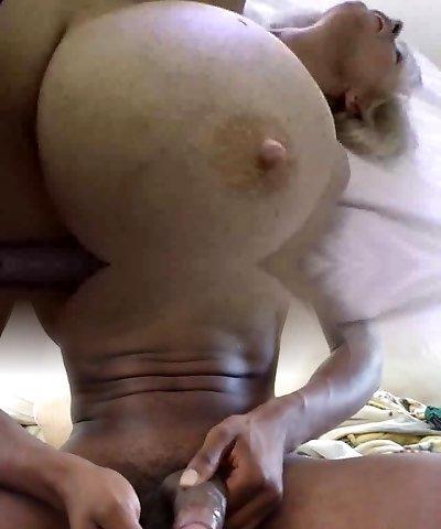 Mature with  mega fat tits get humped
