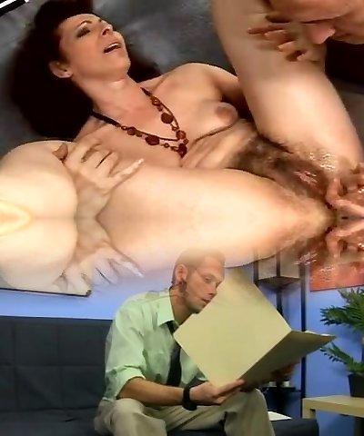 hairy grandma anal squirter