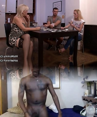 Strip poker leads to coochie toying