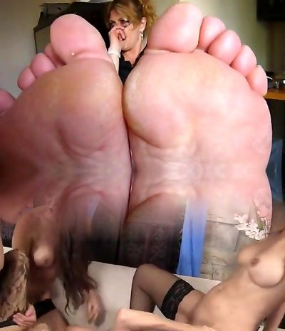Mature stinking feet in your face