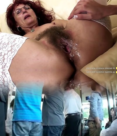 Deep fisting for fantastic mature mom's furry pussy