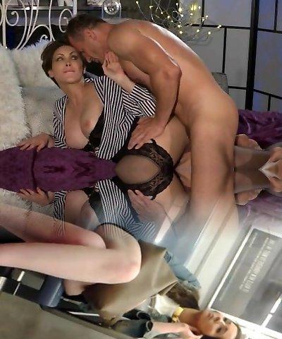 Mom Office woman in stockings wants rock hard weenie deep inside her