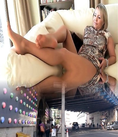 Handsome Mature Blonde Bare Pantyhose Foot And Sole Tease