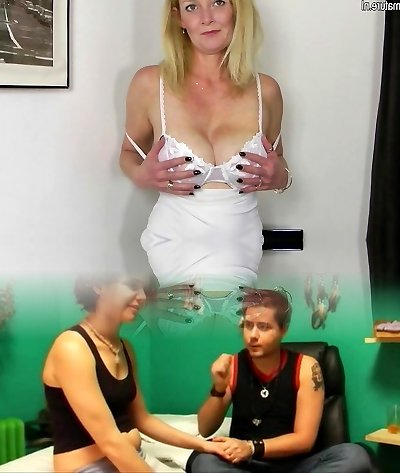 Perfect blonde MILF getting moist and dirty