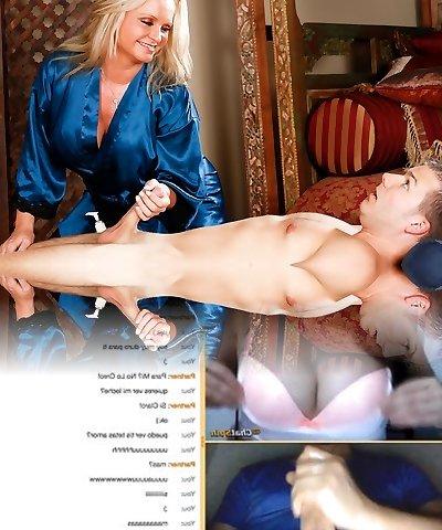 Maya Devine massaging a much younger dude