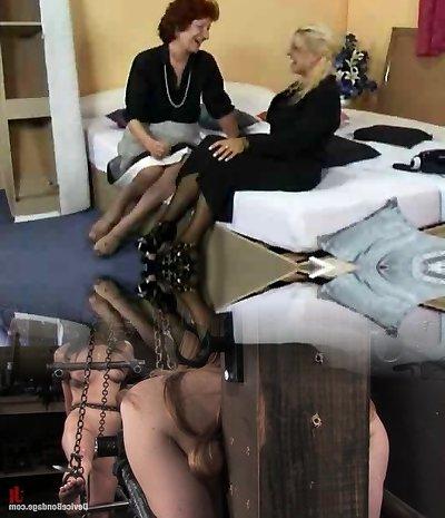 Mature Lesbian Dildo Fun