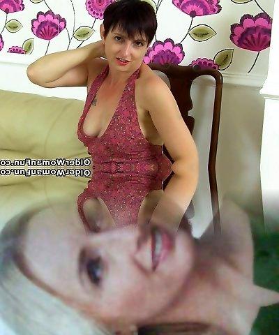 British cougar Zanderlee fucks herself with a dildo