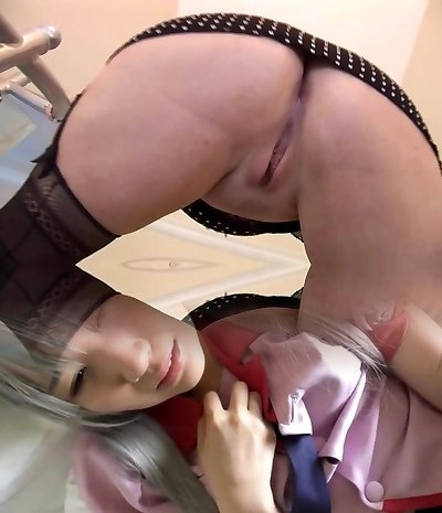 Huge-boobed mature honey in stockings stripping and teasing