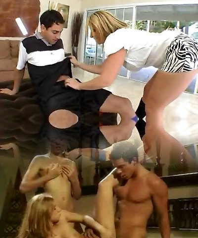 Lucky guy gets seduced by a busty mom