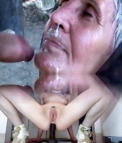 Fabulous homemade Facial, Grannies porn scene