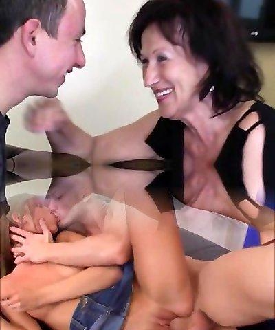 Cute lady anal squirt
