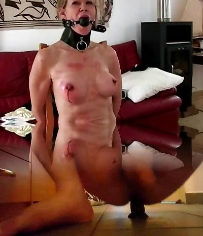 Irina whipping and puffies piercing