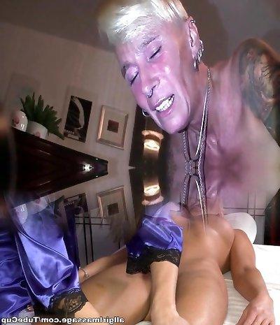 My Sexy Piercings Pierced slave 2 mitt ass fisting