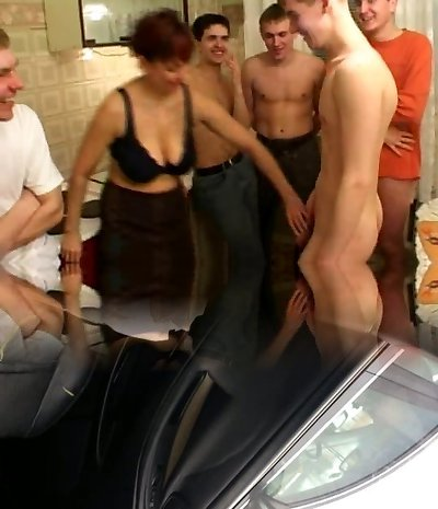 Birthday dude fucks his friend's mommy with fellows
