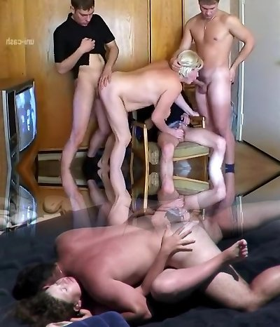 Best Homemade clip with Cumshot, Gangbang scenes