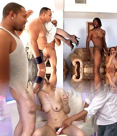 Nina Hartley Gangbanged by Black Gang