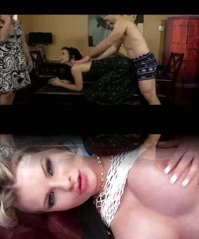 Stepdaughter Fucked,Dumb Mom Watches!