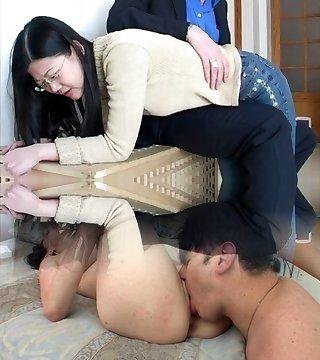 Asian Latex Bondage