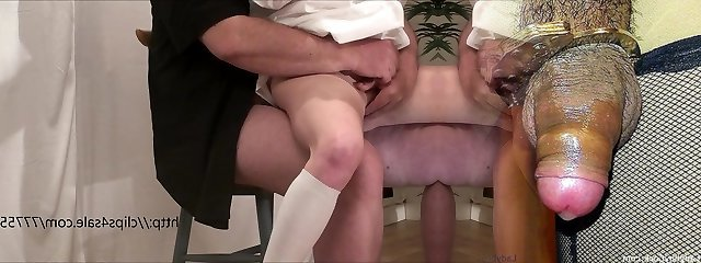 The young slut gets finger-tickled and fucked by an old dude