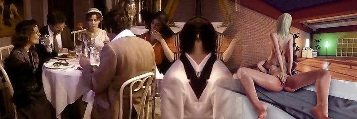Black-haired wife is cheating her spouse with his friend
