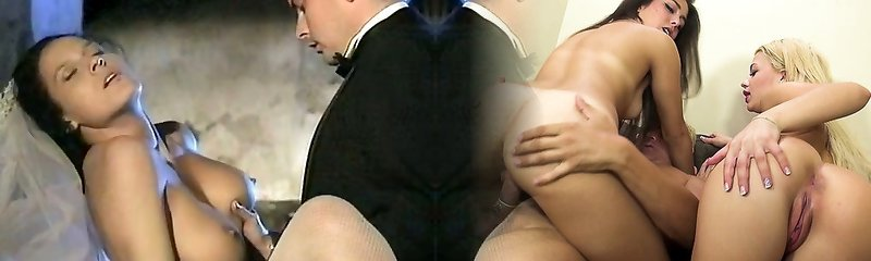 Tall and long legged sweetheart with curly hair unwraps for her man and then fucks him
