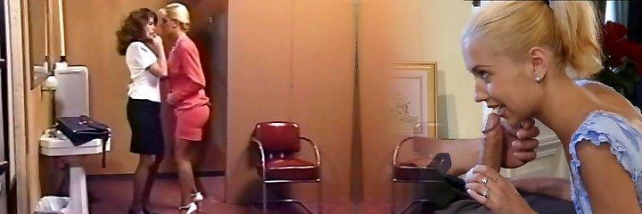 Lacy Rose & Debi Diamond : 2 Horny Pigs - 1 String On