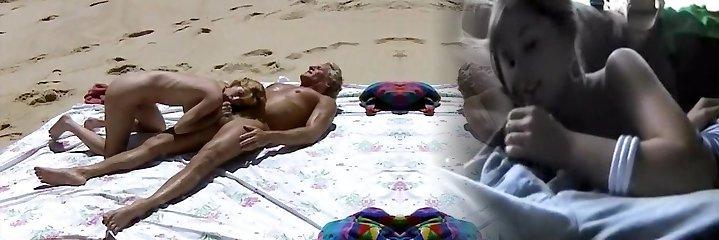 Beach Fucky-fucky Scene from Retro Movie  xxx