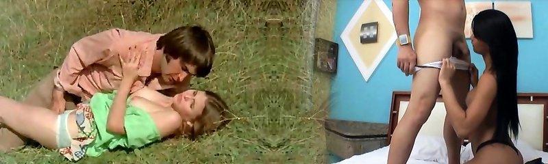 Stud Tries to Seduce teenage in Meadow (1970s Vintage)