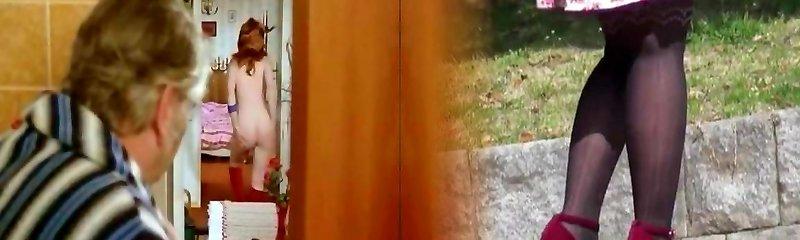 Insane housewife gives head to her kinky neighbor
