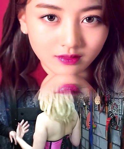 Jihyo & Mina's Cum Stream Double Team