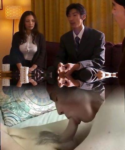 Amazing Japanese model Mako Oda in Astounding Handjobs, Wife JAV gig