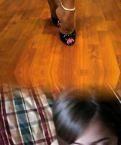 Torrid Wife Asia Hot Legs and High Heels