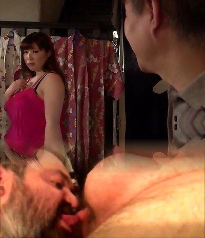 Wild Japanese female Chitose Saegusa in Incredible public, big boobies JAV video