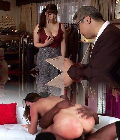 Crazy Japanese chick Chitose Saegusa in Astounding public, big udders JAV flick