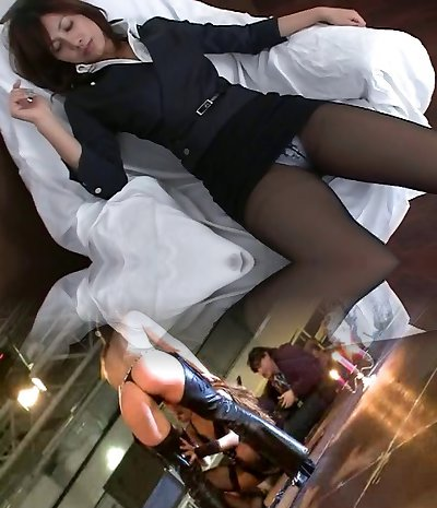Tights Asian Office Girl Teasre