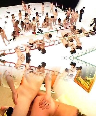 Hottest Japanese whore in Exotic Group Hump, Fetish JAV scene