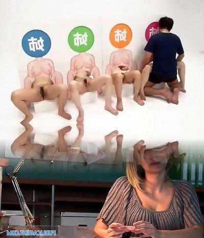 Exotic amateur Voyeur, 3somes sex clip