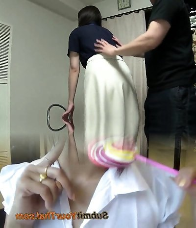 Subtitled Japanese kinky group eyes covered blowjob game
