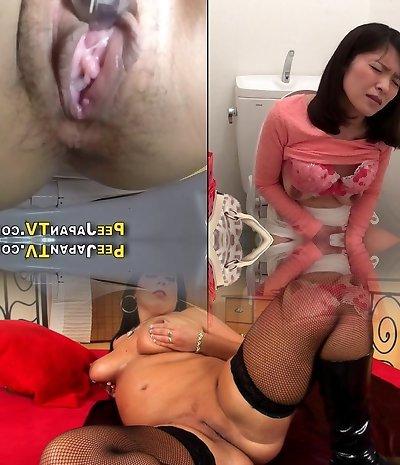 Nasty asian pees upskirt