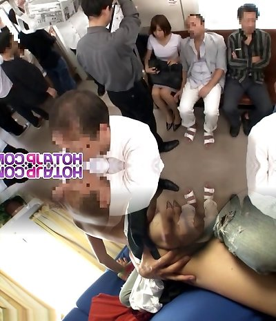 Steaming Cougar Gets Her Tights Pulled Down To Fuck On A Train