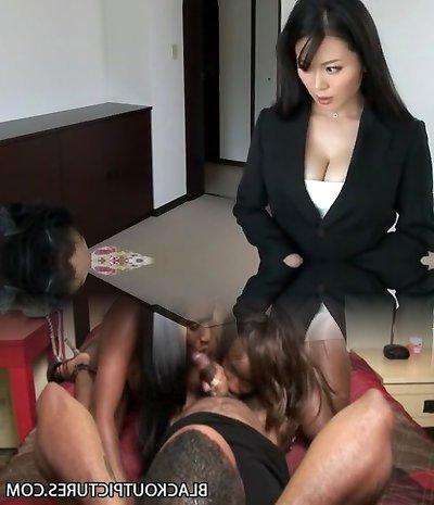 Fabulous Japanese breezy Miki Sato in Hottest Secretary, Meaty Tits JAV clamp