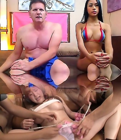 Smut Thai nubile has Asian hairy pussy abused