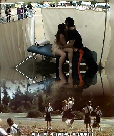 Amateur girls spycam loving in public place